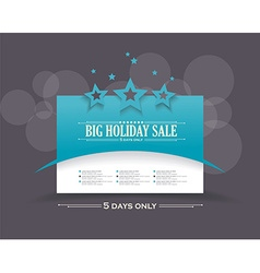 Abstract business presentation template with stars vector image vector image