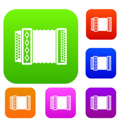 accordion set collection vector image