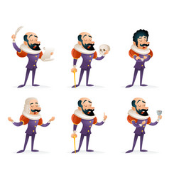 Actor theater stage man characters medieval vector