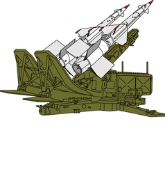 air defense missile system vector image vector image