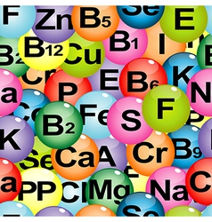 Background seamless with chemical formulas of vector