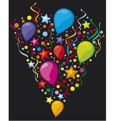 balloons party balloons vector image vector image