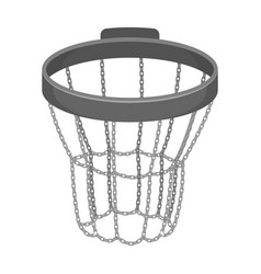 basketball hoopbasketball single icon in vector image