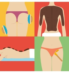 Beauty and spa procedures made in flat design vector