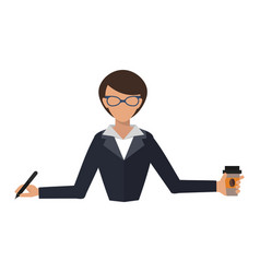 Business woman office job stress work vector