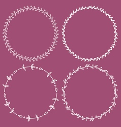 Circle frames round borders hand drawn doodle vector