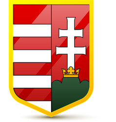Coat of arms Hungary vector image