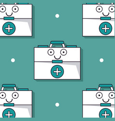 colorful background with pattern of first aid kit vector image vector image