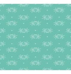 Crabs pattern vector