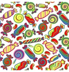 Cute seamless pattern with colorful sweets vector image vector image