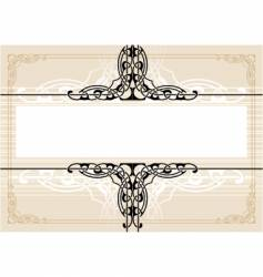 decorative antique frame vector image vector image