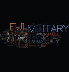 Fiji military text background word cloud concept vector