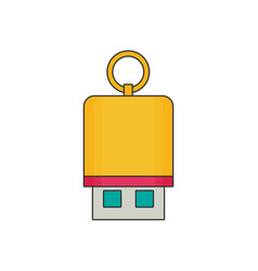 flash drive flat vector image vector image