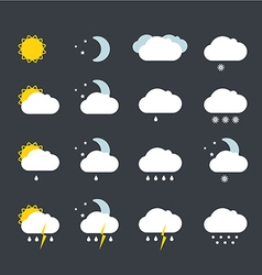 Forecast weather icons set vector