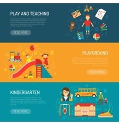 Kindergarten horizonta banners vector