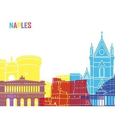 Naples skyline pop vector
