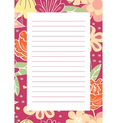 Page for notes vector