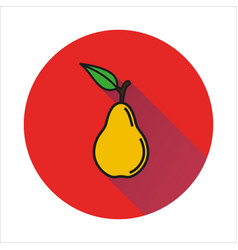 pear simple icon on white background vector image