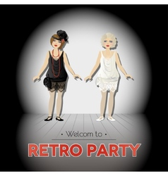 Retro party vector image
