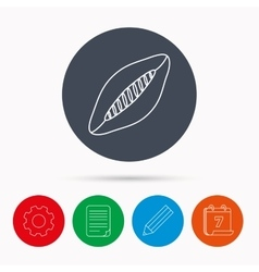 Rugby ball icon American football sign vector image