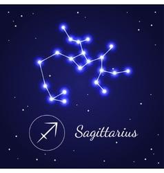 Sagittariuseps zodiac sign stars on the cosmic sky vector