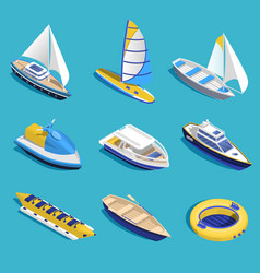 Sea activities set vector