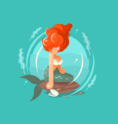 Sea mermaid character vector