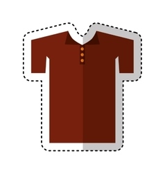 Shirt uniforn team isolated icon vector