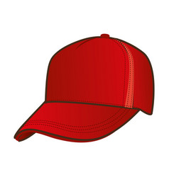 Silhouette color with baseball cap vector