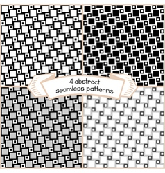 Squares patterns vector