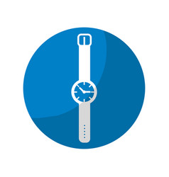 Sticker nice watch to know the time of day vector