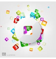 Stop button icon application buttonsocial media vector