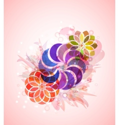 style abstract floral background vector image