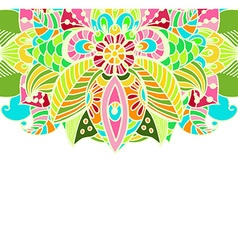 Stylish floral background hand drawn doodle floral vector image