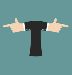 T letter businessman hand font it shows finger vector