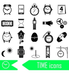 Time theme modern simple icons set eps10 vector