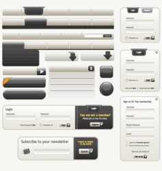 Website design elements |black vector