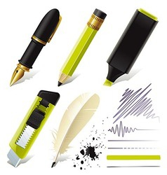 Stationery set for office vector image