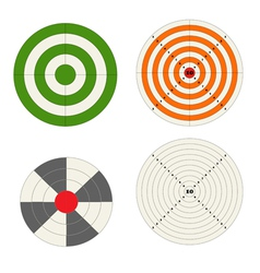 Target collection vector image
