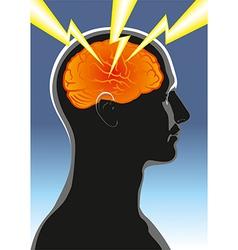 Mental health headache vector