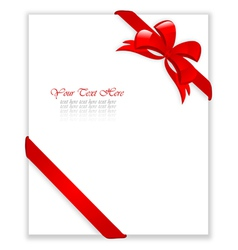 Certificate with red bows vector
