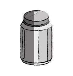 Salt bottle icon vector