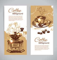Vintage coffee backgrounds vector