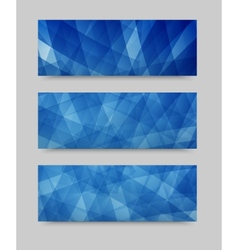 Geometric set banner  brochure template vector