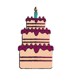 Birthday pastry icon image vector