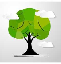 Abstract Tree Isolated on White Background vector image