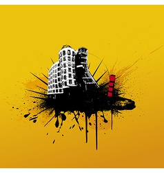 with city vector image