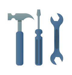hammer turnscrew tools icon vector image