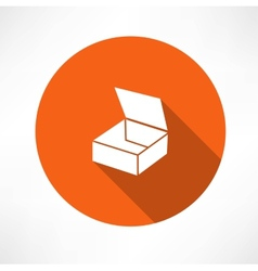 Empty box icon vector