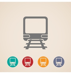 Icon of train metro underground or subway train vector